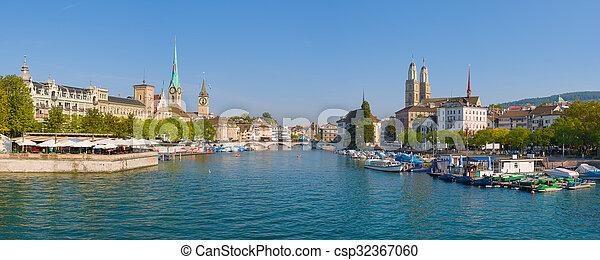Panorama of Zurich - csp32367060