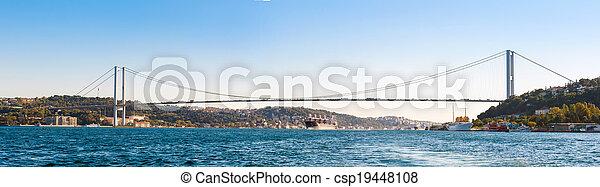 (panorama), pont, bosphore - csp19448108