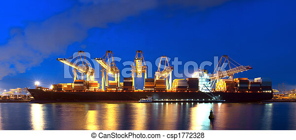 panorama, récipient bateau - csp1772328