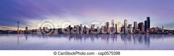 panorama, seattle - csp0575398
