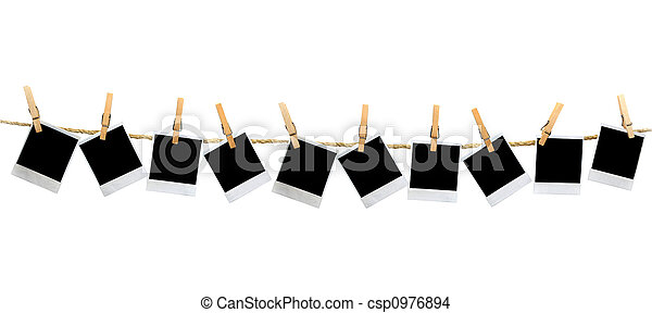 Un panorama Polaroid sin sombra - csp0976894