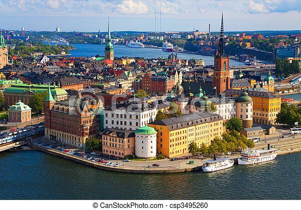 panorama, stockholm, zweden - csp3495260
