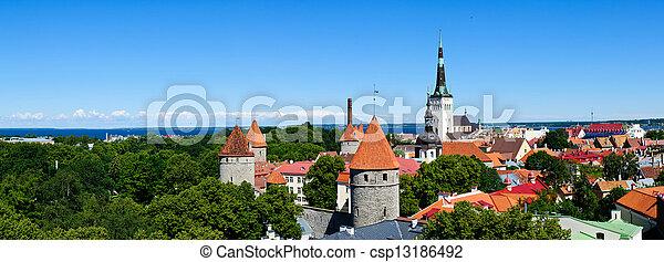 panorama, tallinn - csp13186492