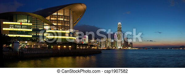 Panorama view of Hong Kong cityscape - csp1907582