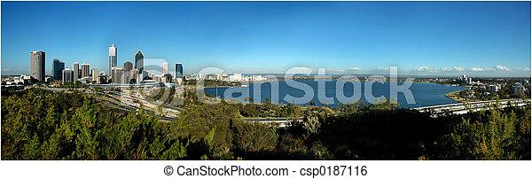 La vista del Panorama de Perth City - csp0187116