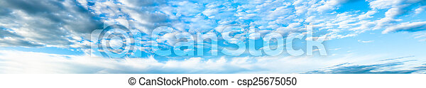 panorama  with the blue sky and white clouds - csp25675050