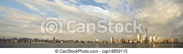 panorama, york, nuevo, ciudad - csp14859115