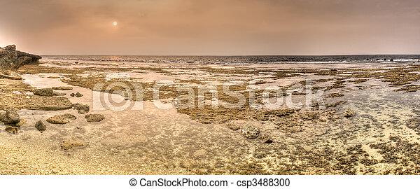 Panoramic coastline - csp3488300