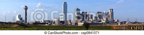 Panoramic Dallas Texas Skyline - csp0841071