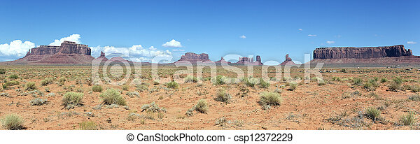 panoramic landscape of Monument Valley - csp12372229
