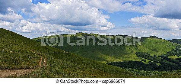 Panoramic mountain Bieszczady - csp6986074
