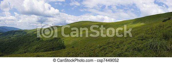 Panoramic mountain Bieszczady - csp7449052