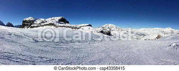 panoramic mountain landscape - csp43358415