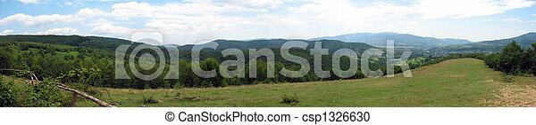 panoramic mountain landscape - csp1326630