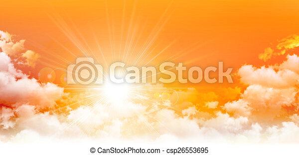 Panoramic sunrise - csp26553695