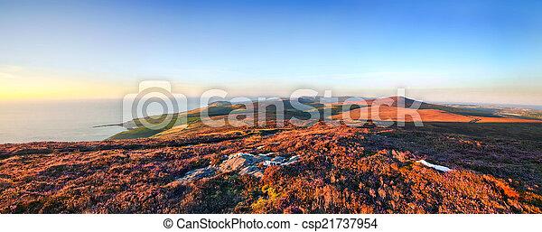 Panoramic view from Cronk ny Arrey Laa - Isle of Man - csp21737954