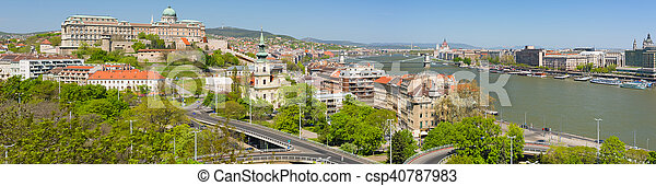 Panoramic view of Budapest in the morning - csp40787983