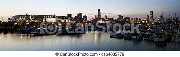 Panoramic View of Chicago - csp4032779
