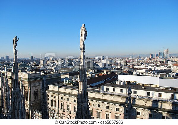 Panoramic view of Milan - csp5857286