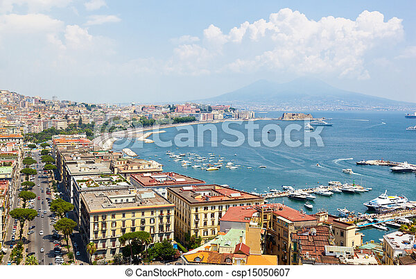 Panoramic view of Naples from Posillipo - csp15050607