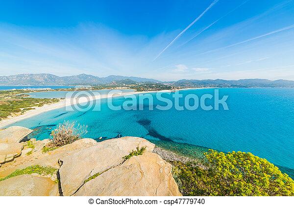 Panoramic view of Porto Giunco - csp47779740