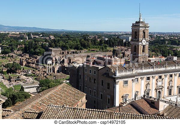 Panoramic view of Rome - csp14972105