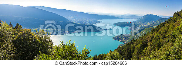 Panoramic view of the Annecy lake - csp15204606
