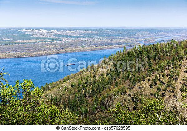 Panoramic view of the Volga River - csp57628595