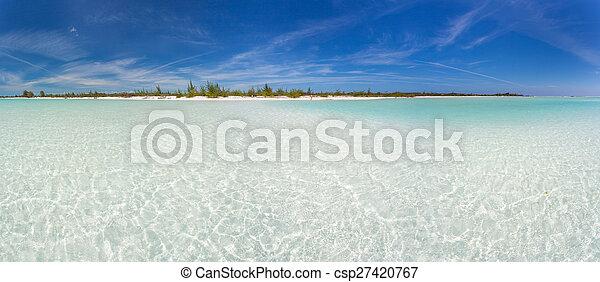 Panoramic view of tropical beach - csp27420767