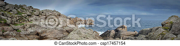 panoramic view out to sea - csp17457154
