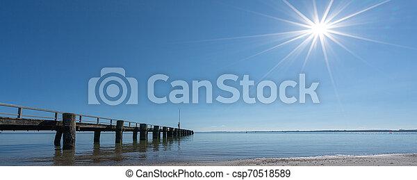 panoramisch, wetter, sandstrand, am besten, ansicht - csp70518589
