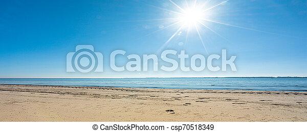 panoramisch, wetter, sandstrand, am besten, ansicht - csp70518349
