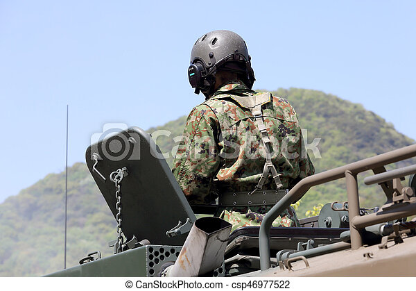 pansrad, japansk, fordon - csp46977522