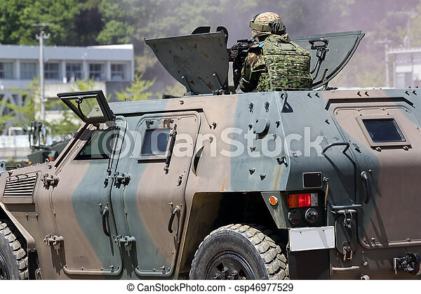 pansrad, japansk, fordon - csp46977529