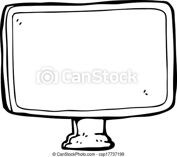 pantalla, computadora, caricatura - csp17737199