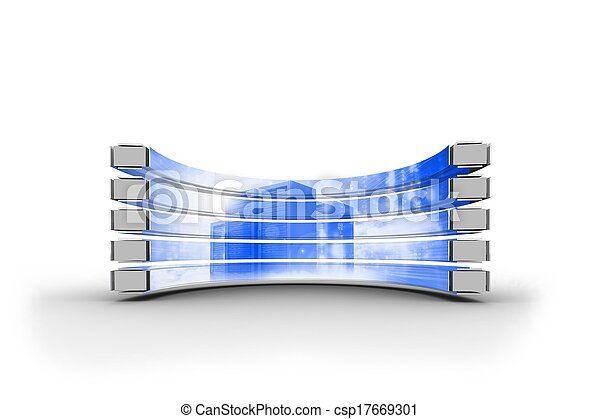 Torre de servicio en pantalla abstracta - csp17669301