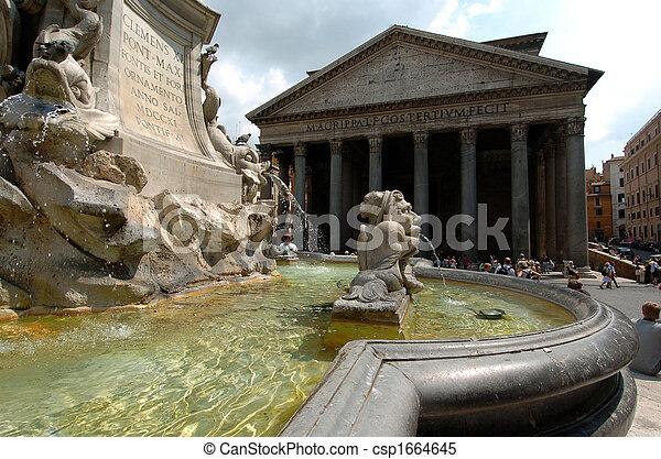 pantheon in rome - csp1664645