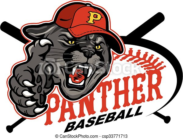 panther baseball mascot team design for school college or vector rh canstockphoto com panther clipart free vector black panther clipart free