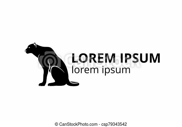 Black Panther Wild Animal Silhouette Icon Logo Design Template For Sport Team Or Any Company On White Background