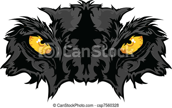 Panther Eyes Mascot Graphic - csp7560328