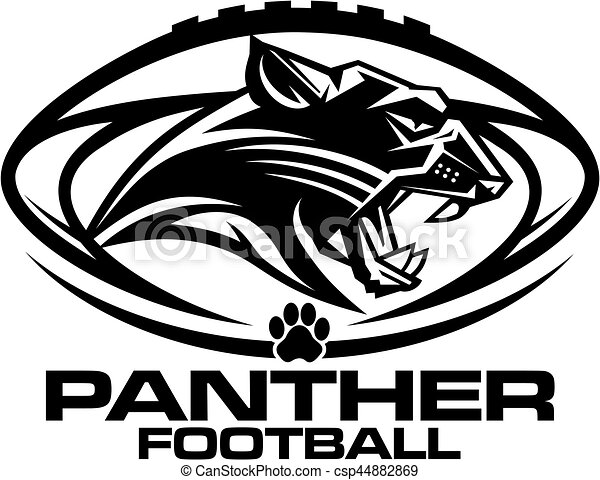 Panther Football Mascot Team Design For School College Or League