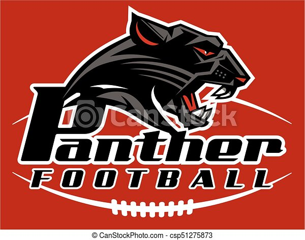 Panther football mascot team design for school, college or ...  Panther footbal...