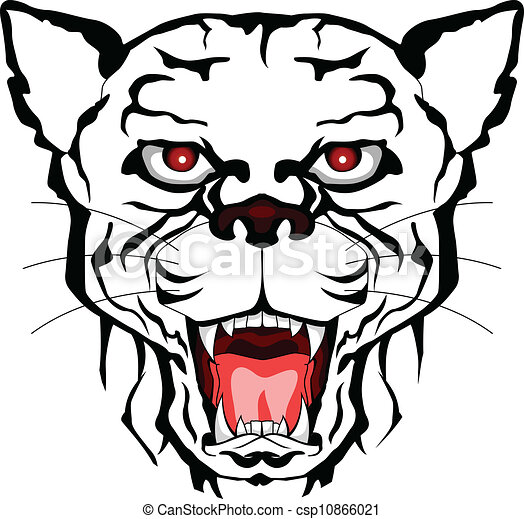 vector illustration of panther head tattoo tribal vector rh canstockphoto com  panther head clipart