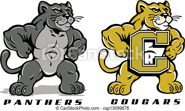cute cartoon of panther or cougar vectors illustration search rh canstockphoto com cougar clip art free clipart cougar paw