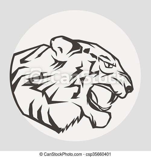 panther portrait angry wild big cat angry tiger  wild puma logo vector free download puma logo vector image