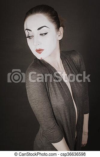 Schwarzer hintergrund bei portrait