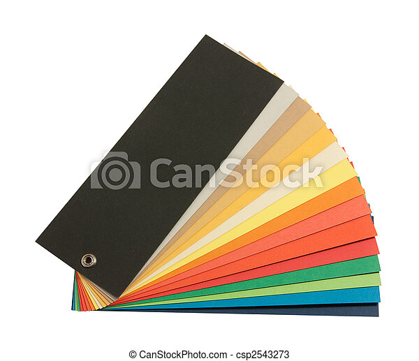 Pantone Color Scheme Opened Color Guide Book Isolated On White