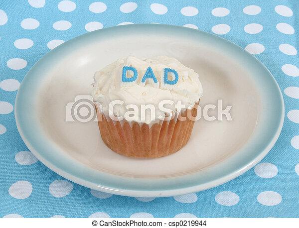 papá, cupcake - csp0219944