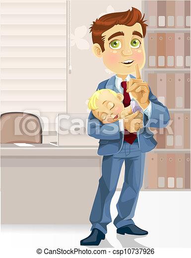 Papá de negocios en la oficina - csp10737926