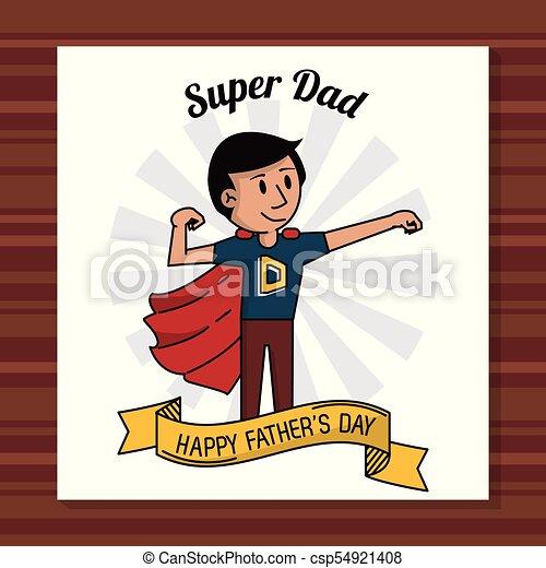 Papá Padres Decoración Tarjeta Súper Día Cinta Feliz Papá